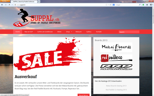 SUPPAL – Stand Up Paddle Greifensee