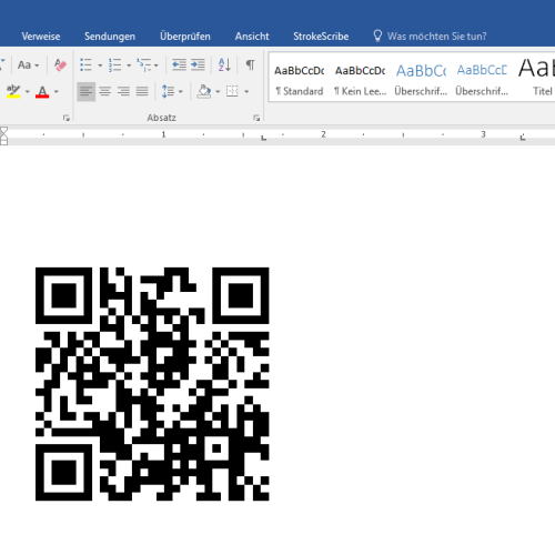 Barcode erstellen mit Word 2013 – ohne zusätzliches Plug-In – QR CODE128 EAN